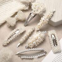 Pince à cheveux perle Snap Barrette Stick cheveux cadeau de la mode féminine