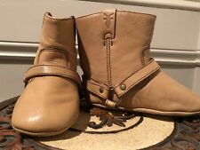 Infant Soft Leather Bootie, Frye, Tan, Harness Bootie With Polished Finish