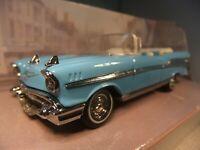 1:43 Matchbox Dinky DY-27B - 1957 Chevrolet Bel Air Convertible - Light Blue