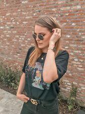 ZARA Black Disney Print T-shirt Top Size S