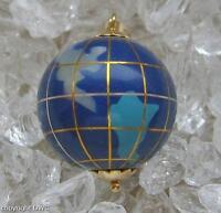 Lapislazulianhänger Globus Anhänger Pendant with mit Lapislazuli in aus 750 Gold