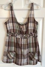 MAURICES Women's Size L Plaid Baby Doll Sleeveles Tank