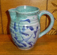 Small Art Pottery Pitcher - Signed - 5 3/4""
