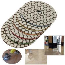 """6pcs new 4"""" Dry Diamond Polishing Pads Set Kit For Granite Stone Concrete Marble"""