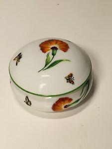 Tiffany And Co. Limoges France Tiffany Garden Porcelain Trinket Box