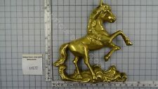 BRASS PRANCING HORSE FOR ON TOP OF THE GERMAN REGULATOR CLOCKS