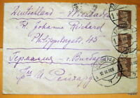 USSR DEUTSCHLAND envelope Leningrad Wiesbaden 16.3.1925