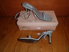 Touch Ups Cher Silver Shimmer Formal Wedding Shoes Open Toe Pumps ~ Sz 8 NIB