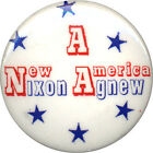 Scarce 1968 Nixon Agnew A NEW AMERICA Campaign Button (1344)