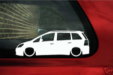 2x Lowered car outline stickers - for Vauxhall Zafira B VXR