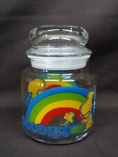 Vintage 1965 Peanuts Snoopy Woodstock Glass Jar Canister Container with Lid