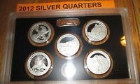 2012 Silver Quarter Proof Set US Mint Plastic America The Beautiful No Box/COA
