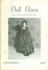 1970 Doll News Magazine United Federation of Doll Clubs (November)