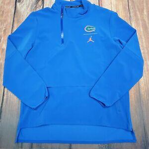 NWT Nike Jordan Jump man Blue 1/4 Zip Hybrid Gator Jacket Mens L $120