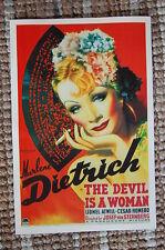 The Devil ia A Woman Lobby Card Movie Poster Marlene Dietrich