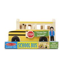 Melissa Doug School Bus Wooden Play Set 7 Figures #9395