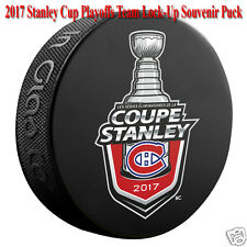 2017 Montreal Canadiens Stanley Cup Playoff Lock-Up Souvenir Hockey Puck  FRENCH