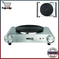 Electric Stove Burner Stainless Hot Plate Portable Simmering Boiling Frying Cook