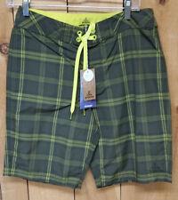 Prana Men's El Porto Board / Surf Shorts w/ Pocket - Cargo Green - Size 30 - New