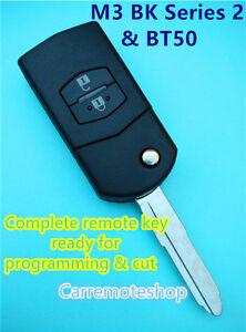 MAZDA 3 BK Series 2 MAZDA BT50 Transponder Chip Flip Remote Key Keyless Entry