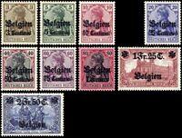 Deutsche Besetzung 1914 - 1918 Belgien Einzelwerte aus 1 - 9  , * ,