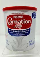 Nestle Carnation Instant Nonfat Dry Milk 9.6oz Canister Exp 06/2021 Powder Milk