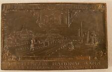 RARE 1928 LECHMERE NATIONAL BANK Cambridge Mass. Bronze Paperweight Desk Plaque