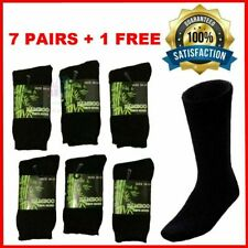 Bamboo Socks for Men, Size 6-11 - Black