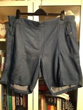 AA76 Bonmarche Casual Plus Sz 22 Denim Shorts 100%Cotton Longer Length