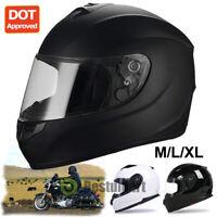 DOT Black Motorcycle Full Face Helmet Visor Modular Flip Up Motorbike Racing New