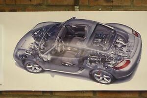 porsche cayman s pvc large WORK SHOP BANNER garage car show banner
