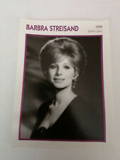 barbara streisand - Fiche cinéma - Portraits de stars 13 cm x 18 cm