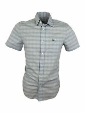 Lacoste Men's Regular Short Sleeve Striped Casual Shirts & Tops