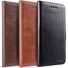 Luxury Leather Wallet Case Magnetic Flip Cover Stand Fr Samsung Galaxy LG Phones