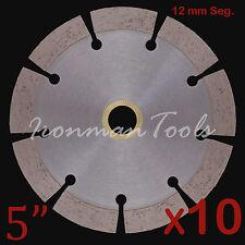 """10PK 5"""" Concrete Brick Block Paver Limestone Asphalt Diamond Saw Blade 12+mm Seg"""
