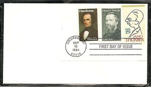 US SC # 2682 James Thurber FDC. Combo 1  Uncacheted