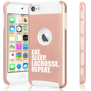For Apple iPod Touch 5th 6th Shockproof Hard Case Eat Sleep Lacrosse Repeat