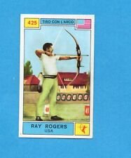 CAMPIONI SPORT 1969-70-PANINI-Figurina n.425- ROGERS -USA-TIRO CON ARCO-Rec