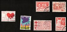 Denmark 1963-84 Mixed Lot of 10 Semi-Postal Stamps
