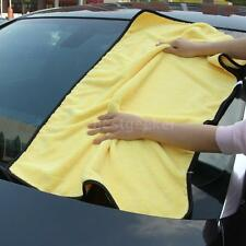 92*56cm Yellow Microfiber Car Home Cleaning Towel Wash Drying Cloths US B8W2