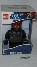 NEW Star Wars Lego Kids Darth Maul Figure Digital Alarm Clock Boxed FREESHIP