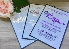 Gold Foil Wedding Invitation, Marble & Gold, Rose Gold Invitation