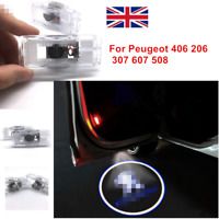2x For Peugeot Logo LED Door Courtesy Laser Projector Shadow Lights Puddle Lamps