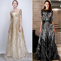 NEW Evening Formal Party Ball Gown Prom Bridesmaid Sequins Hosting Dress YSGZ61
