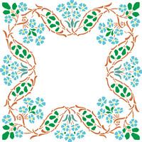 Large Floral frame Stencil Reusable wall art craft 350 micron Mylar  FLORA025