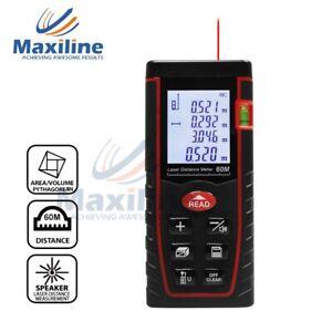 60M Laser Distance Measurer Meter Area Volume Rangefinder Pythagore Tape Measure