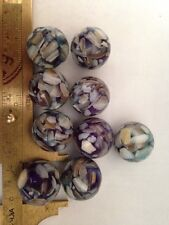 5 Purple/Multi Color Mother Of Pearl Round 18mm L@@K SALE