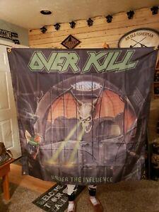 Overkill band flag 4'x4' Huge
