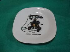 Vintage old porcelain dish - old telephone. Entel - Argentina 1892