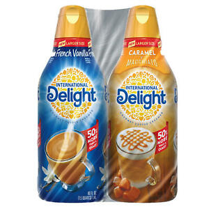 International Delight Creamer, French Vanilla & Caramel Macchiato (48 oz., 2 pk.